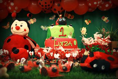 Luiza 1 ano – Decoração Jardim de Joaninhas