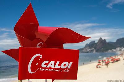 Pelotão colorido da Caloi no Rio de Janeiro
