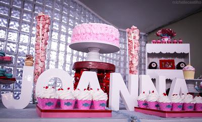 """Joana 7 anos – Decoração """"Joanna Perry's Candy Party"""""""