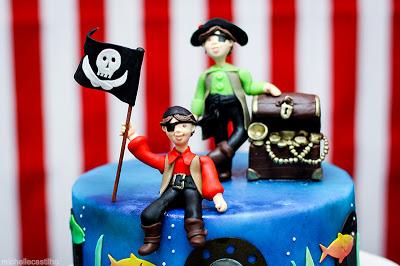 Dani e Dudu – 3 e 5 anos – Decoração Pirata