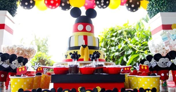 Joaquim 1 ano – Decoração Mickey