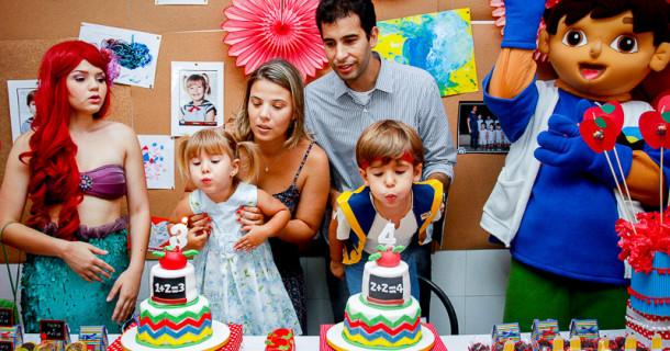 Pedro e Mari – 4 e 3 anos – A festa