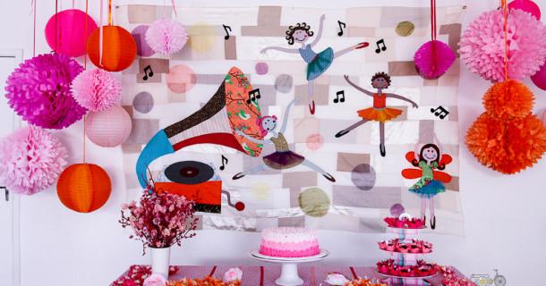 Festa Bailarina Nina 3 anos – Decoração