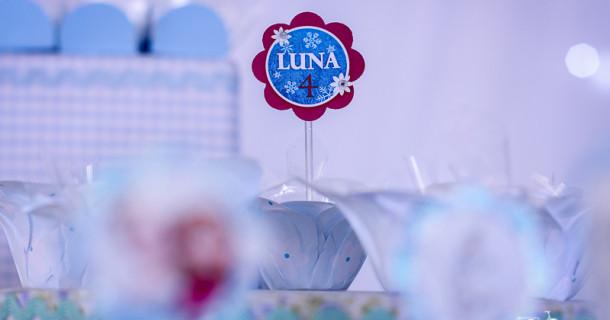 Luna 4 anos – Decoração Frozen