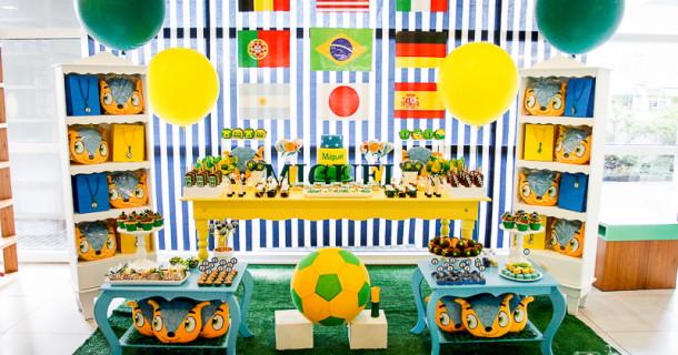 Miguel 7 anos – Decoração Copa do Mundo