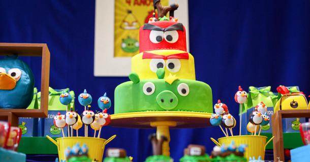 Leo 4 anos – Decoração Angry Birds