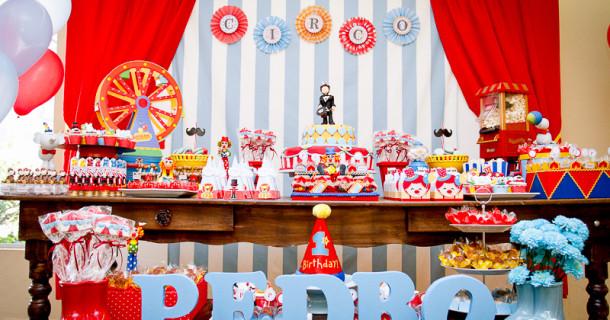O circo do Pedro! Decoração 1 ano