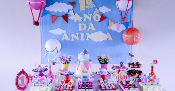 Balões para o 1º ano da Aninha – Decoração