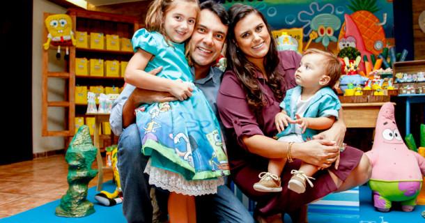 Giovana e Henrique – 4 e 1 anos – Festa do Bob Esponja