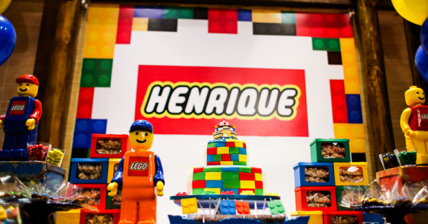 Henrique – 5 anos – festa Lego